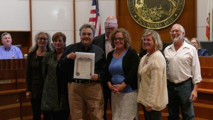 Mayor gives Masucci proclamation award